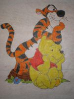 Tigger and Winne the Pooh by Noelle-San