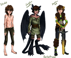 AU Hiccup Designs by RandomDraggon
