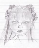 Angry little girl sketch by Terezalilo