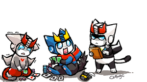 TF CATS They are gaming by chingc