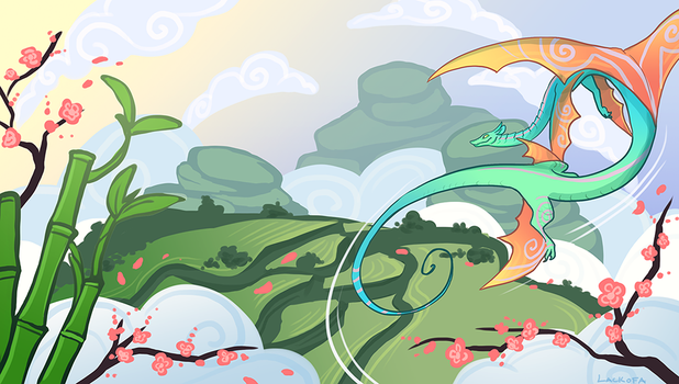 Wind and Flower by lackofa