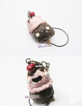Polymer Clay Double Ice Cream Cone by CowFartss