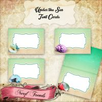 Under the Sea Food Tent Cards by NerdTrends