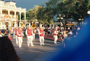 Red and White Marching Band by Texas1964