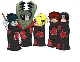 Chibi Akatsuki Colored by rSYNist17