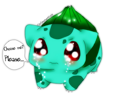Choose me? (Bulbasaur) by thesharperknife