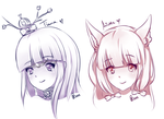 COM: Ariatte and Tiana Stress Reliever Headshots by Aoi-Azami
