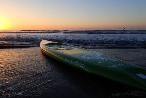 Beach SUP paddle at Sunrise by PaddleGallery