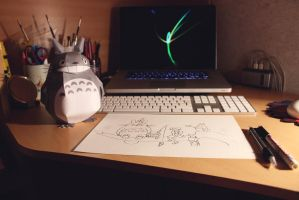 My kingdom/workplace/desk by realm-of-lost-minds