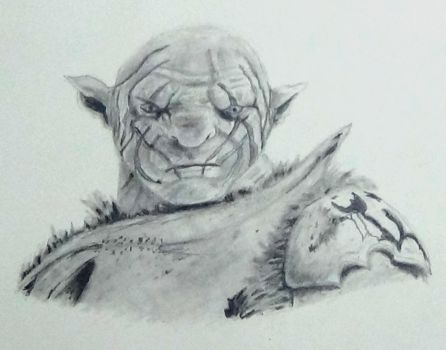 Azog the defiler graphite drawing by AliceColours