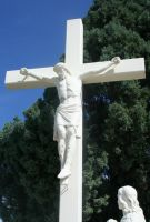 Mount Olivet Cemetery Crucifixion 6 by Falln-Stock