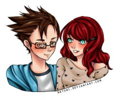 Couple bust for Benjamin William colored by watuni