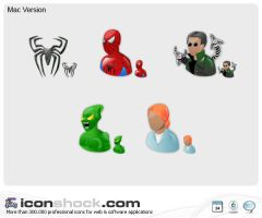 Spiderman Application Icons by Iconshock