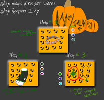 PP- Ivy's Halloween Shop Items by slycooper998