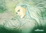 Legolas aiming - The desolation of Smaug by Neldorwen