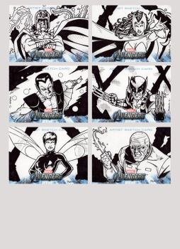Avengers Assemble Sketch Cards 3 by tonyperna