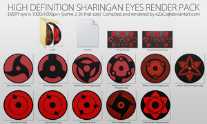 [HD] Sharingan eyes render pack by eZaCx
