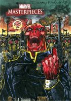 Redskull MM3 Sketch Card by DKuang
