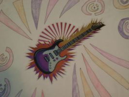 Guitar Tattoo Close Up by dracosear