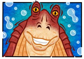 Jar Jar Binks by PaulMcInnes