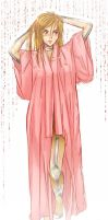 Pink Bathrobe WHUT by Acaciathorn