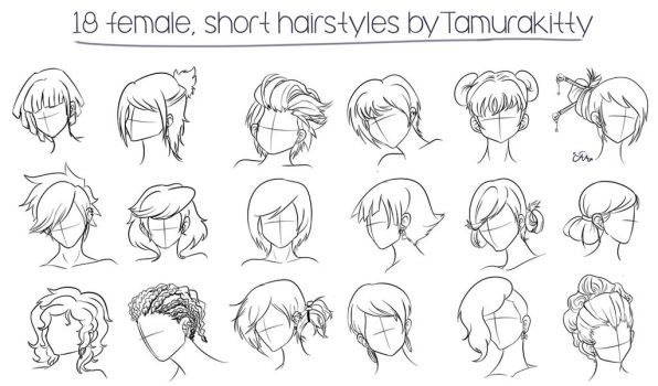 18 female short hairstyles by Cosmic-Candy-Shop