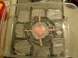 Companion cube cake by KNO-108