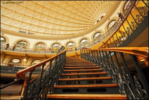 Leeds corn exchange (in colour) by andy-j-s