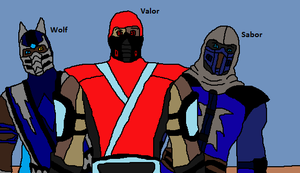 Valor and Wolf and Sabor the three troublemakers by Natalia-Clark