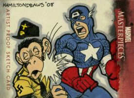 Cap punches them monkeys by hamdiggy