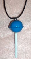 Blue Lollipop Necklace by TashaAkaTachi