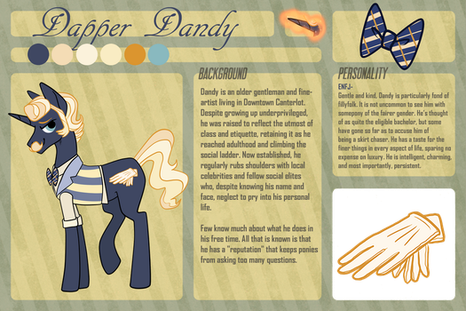 Dapper Dandy Reference Sheet by TwigHat