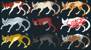 Cat Adoptables OPEN by KellzFire