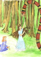 ...and a snake in the forest by mene