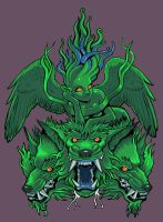 Cerberus and Echidna shirt by missmonster