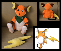 Raichu Plush by Mlggirl