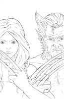 Woverine and X-23 by Blenia