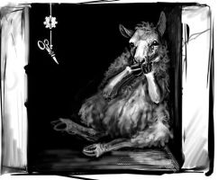 Sketch for 'The Sheep' by ursulav