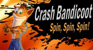 Crash Bandicoot SSB4 Request by Elemental-Aura