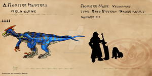 Monster Hunter Field Guide: Velociprey by Vagrant-Verse