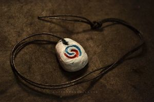 Philosopher's Stone League of Legends Necklace by AnyShapeNecklaces