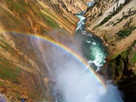 Yellowstone Rainbow by AMLensCreations