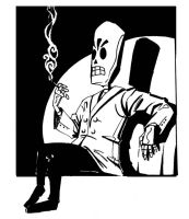 Grim Fandango-Care For A Smoke by Maliris-San