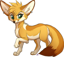 Fennec Ashy by Skeleion