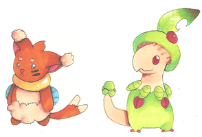 Pokemon hybrid adoptables by PinkMelodii