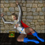 Powergirl in Chains by LordSnot