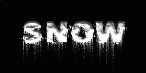 Snow Text Effect by GraphicIdentity