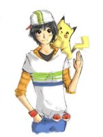 Pokemon-Ash and pika XD by baccon