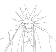 Bleach:Zaraki Kenpachi Lineart by madhouse1991