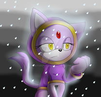 Blaze: in the Rain by SikyuSonic